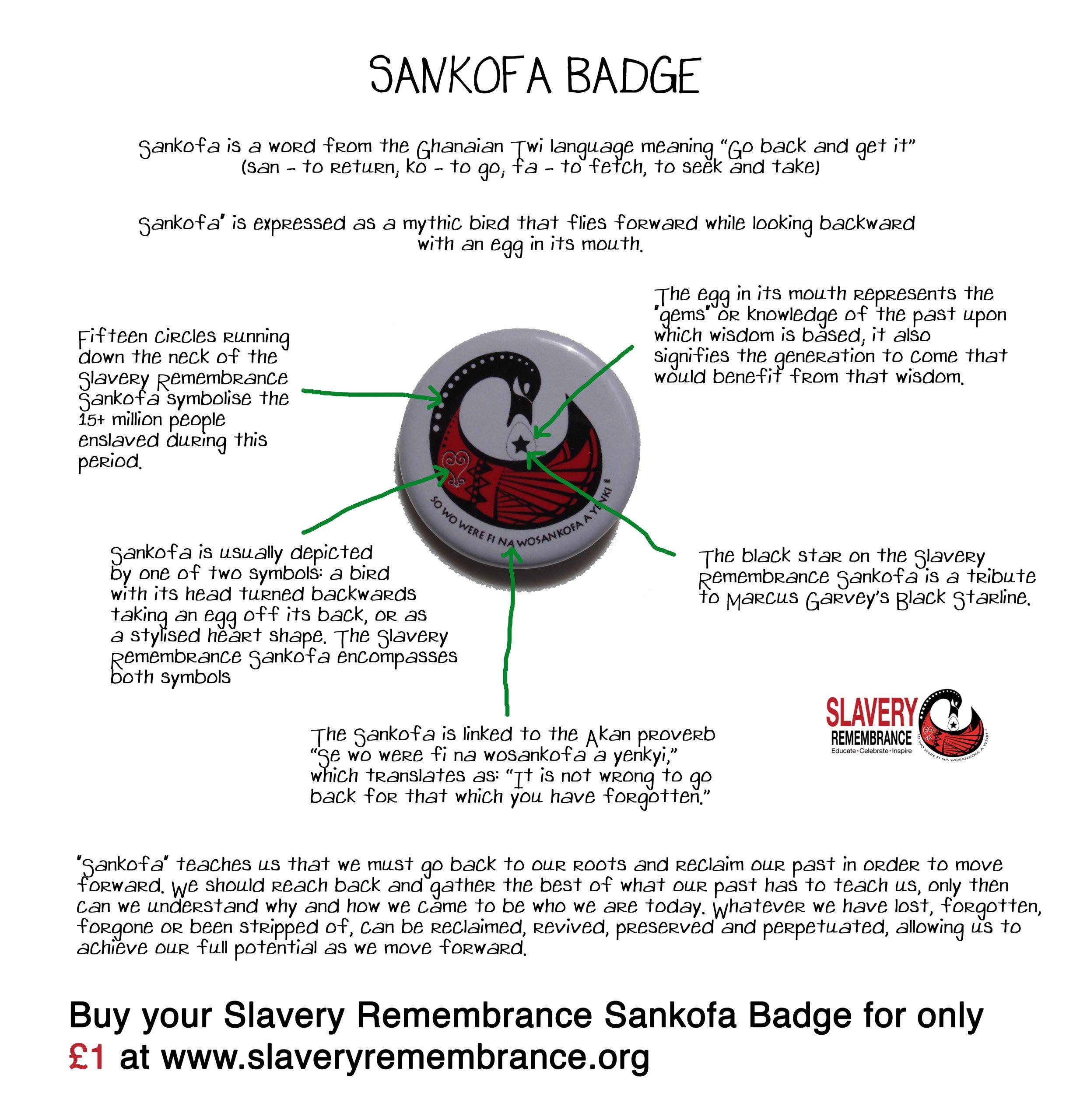 Slavery Remembrance Enamel Sankofa Badge Slavery Remembrance