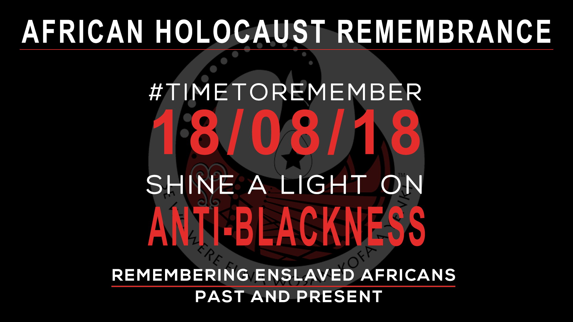 18/08/18 – Global Day of Remembering
